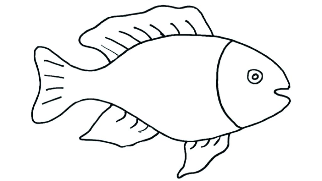 1024x576 Easy Fish Drawing For Kids Coloring Pages Girls Pdf Online