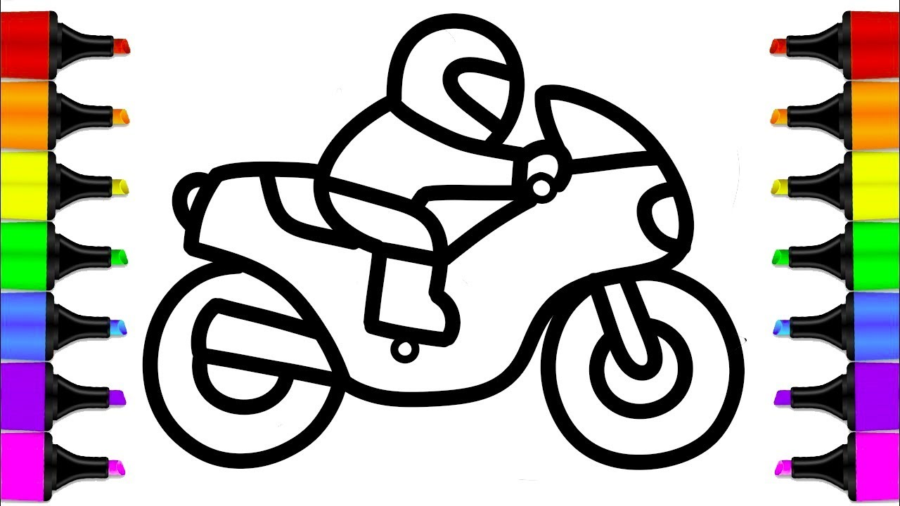 1280x720 How To Draw A Motorcycle Easy Step