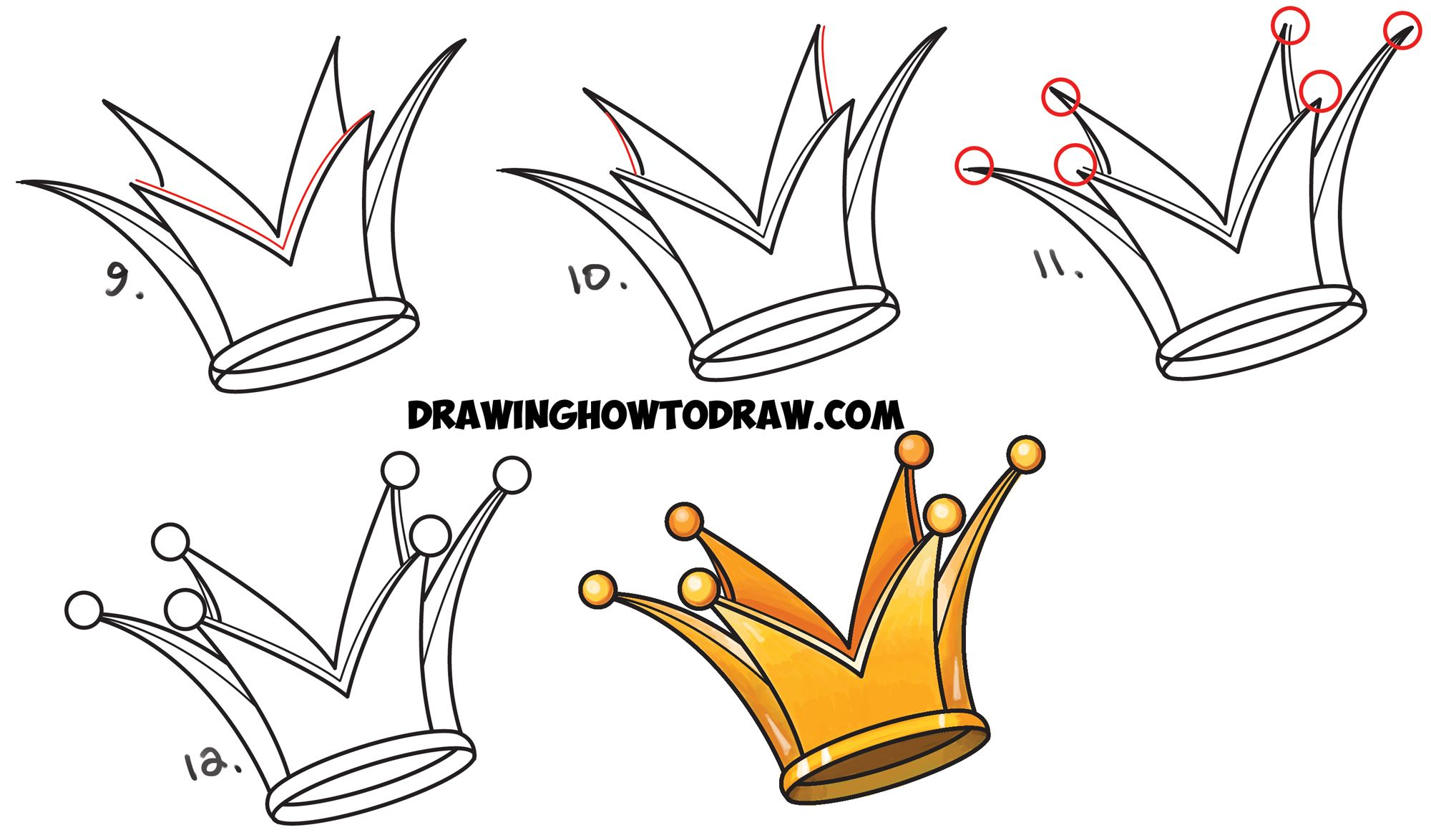 2000x1174 How To Draw A Crown