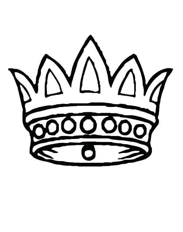600x761 Simple Crown Coloring