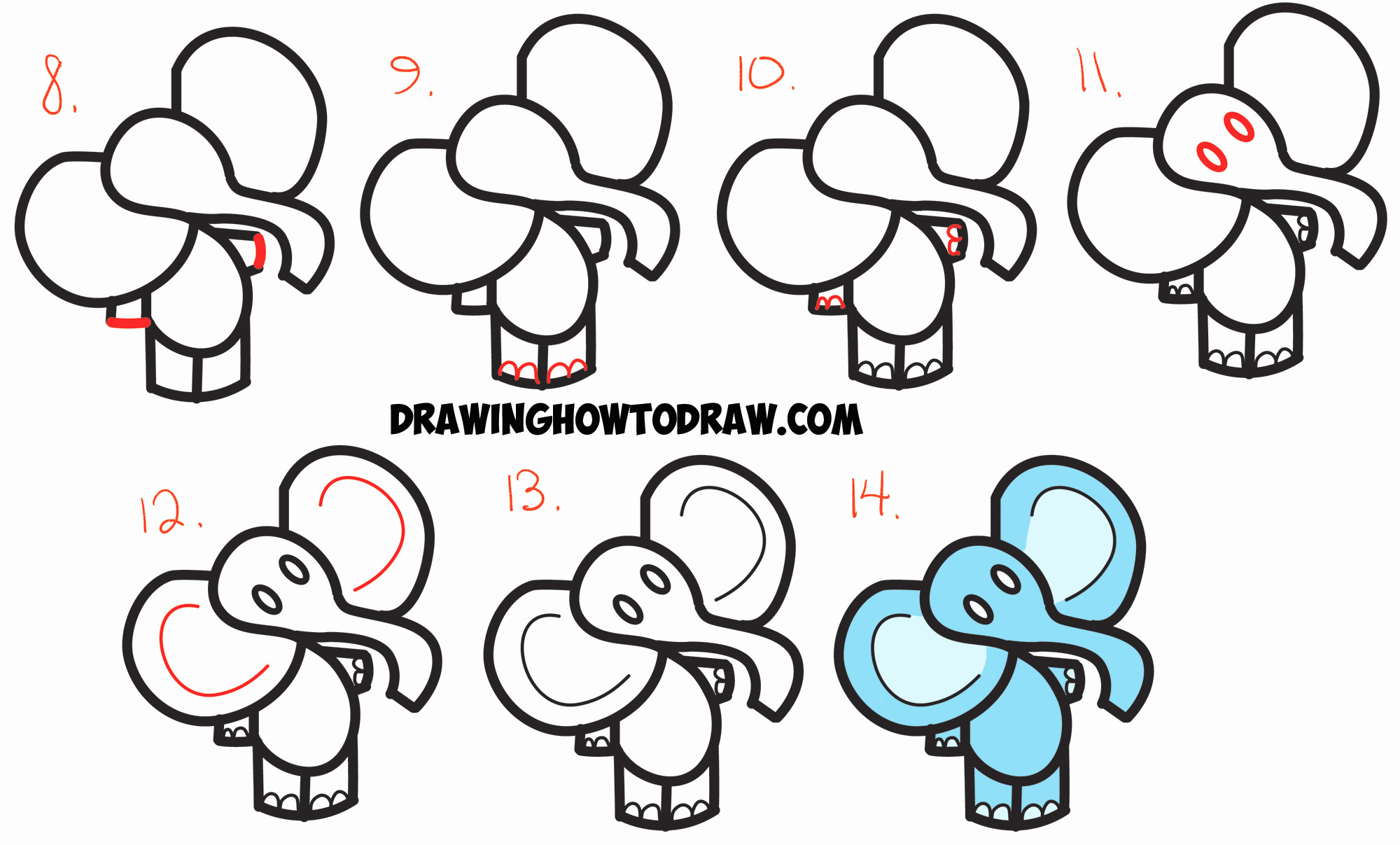 2000x1207 Easy Drawings For Kids Step