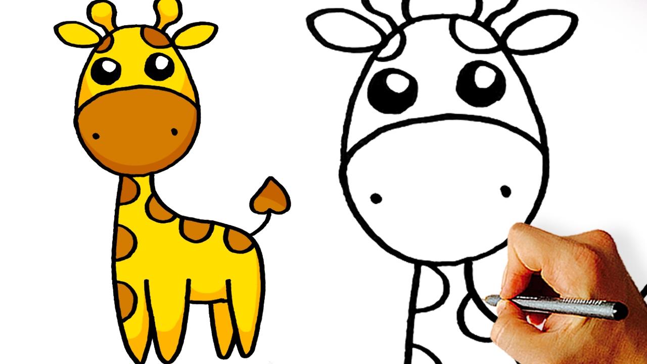 1280x720 Very Easy! How To Draw Cute Cartoon Giraffe Art For Kids!
