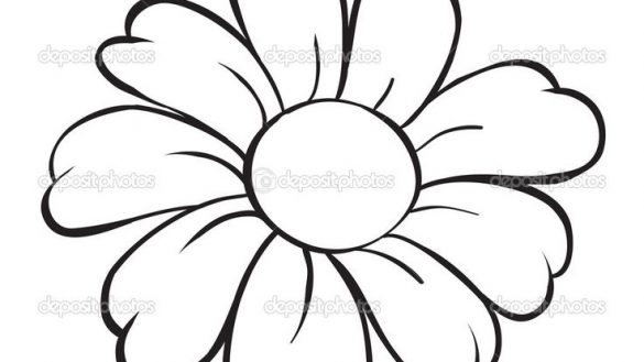 585x329 Simple Flower Drawings