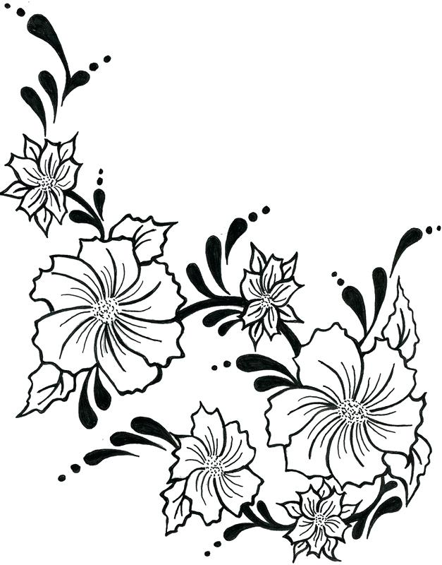 627x800 Flowers Easy To Draw