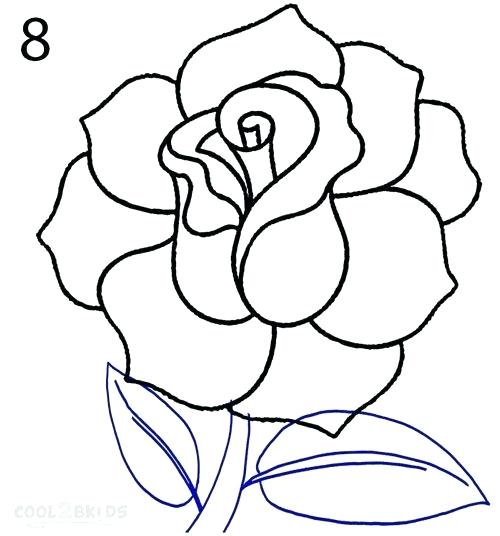 500x536 Easy Rose To Draw Draw A Rose Rose Drawing Easy Rose Flower