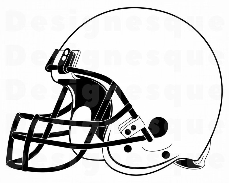 794x635 Football Helmet Outline Football Helmet Clipart Football Etsy