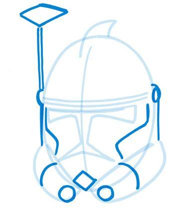 371x421 Drawing An Arc Trooper Helmet
