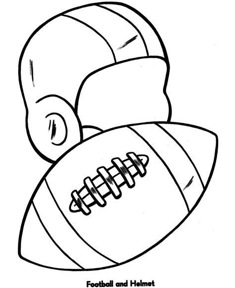 474x580 Easy Coloring Pages Football And Helmet Zeejs School Project