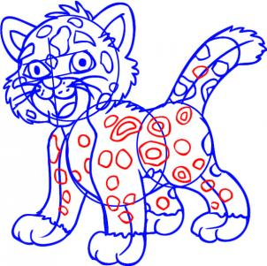 302x301 How To Draw How To Draw Baby Jaguar From Go Diego