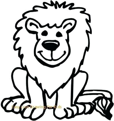 396x420 easy to draw lions drawing a easy ways to draw lions lali