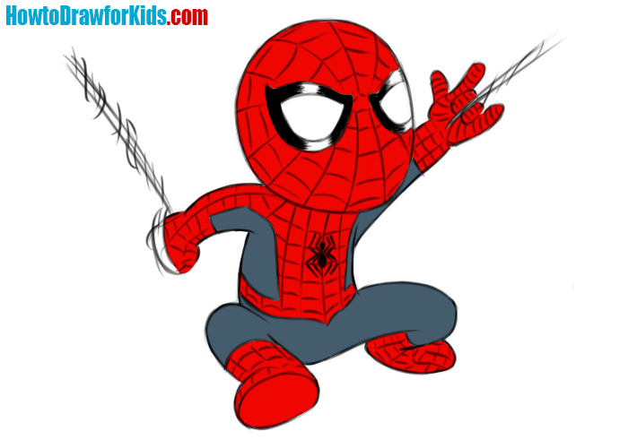 700x500 How To Draw Spider Man For Kids How To Draw For Kids
