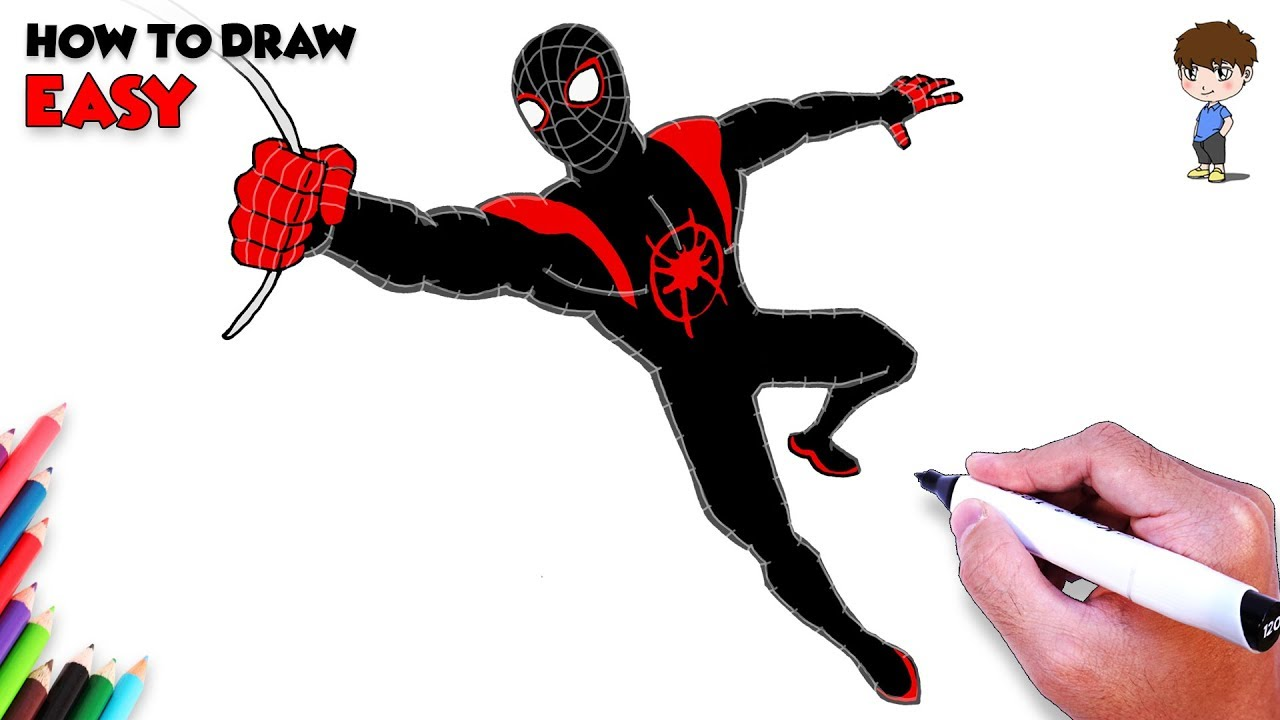 1280x720 How To Draw Spiderman Easy Step