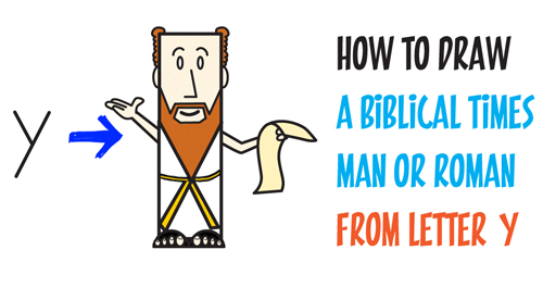 500x264 How To Draw A Man From Ancient Rome Or Biblical Times From Letter