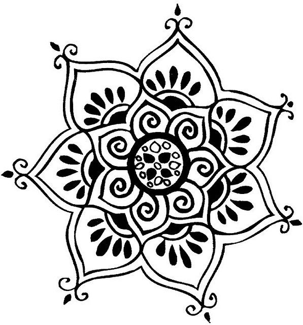 Easy Mandala Drawing