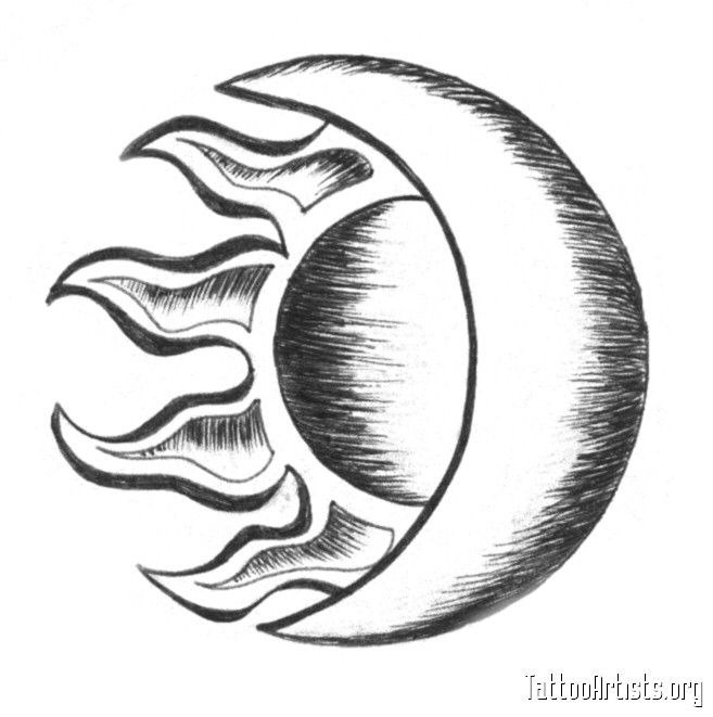 657x661 Sunmoon Tattoo My Wish List Sun, Moon Drawings, Moon Drawing