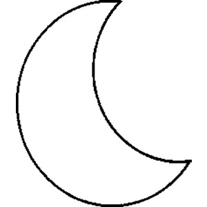 300x300 Easy Drawing Moon