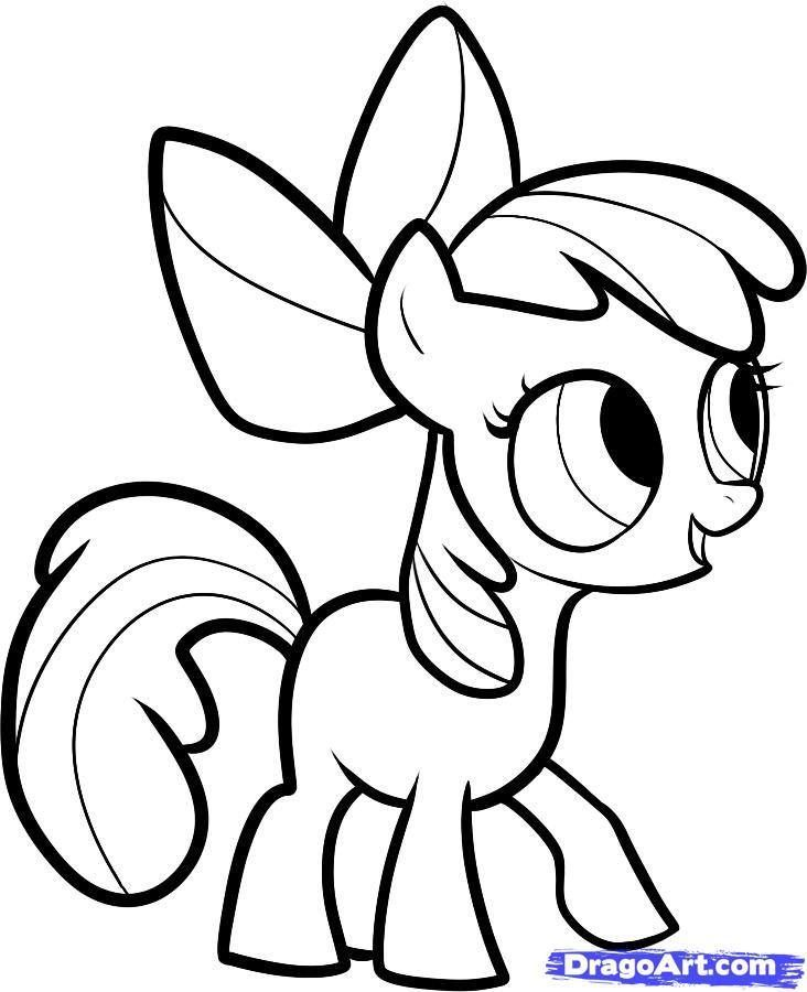 732x900 Horse Coloring Pages Pony Drawing, My