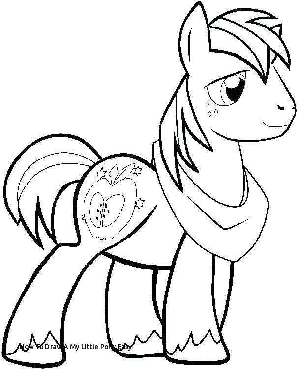 604x756 Easy To Draw Pony How To Draw A My Little Pony Easy Best Family