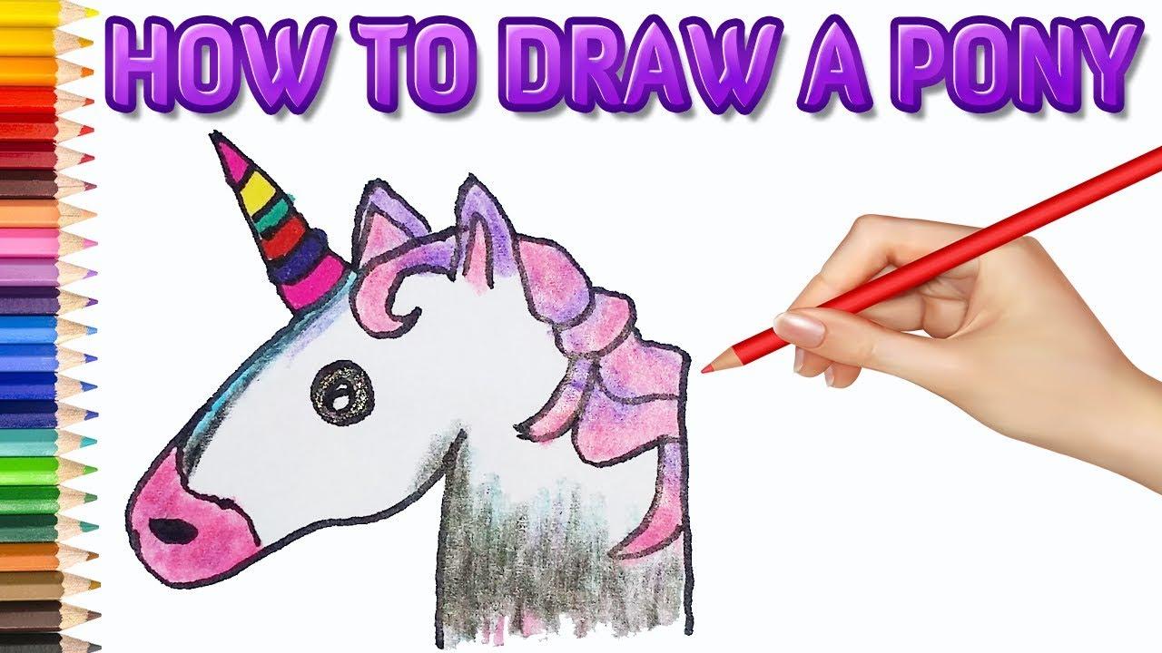 1280x720 How To Draw A Pony Step