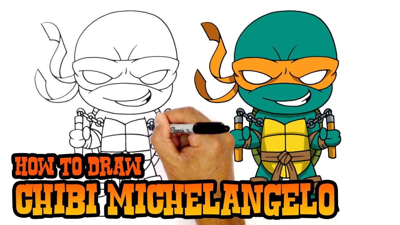 1280x720 How To Draw Michelangelo Teenage Mutant Ninja Turtles