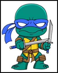 200x253 How To Draw Teenage Mutant Ninja Turtles Cartoon Characters
