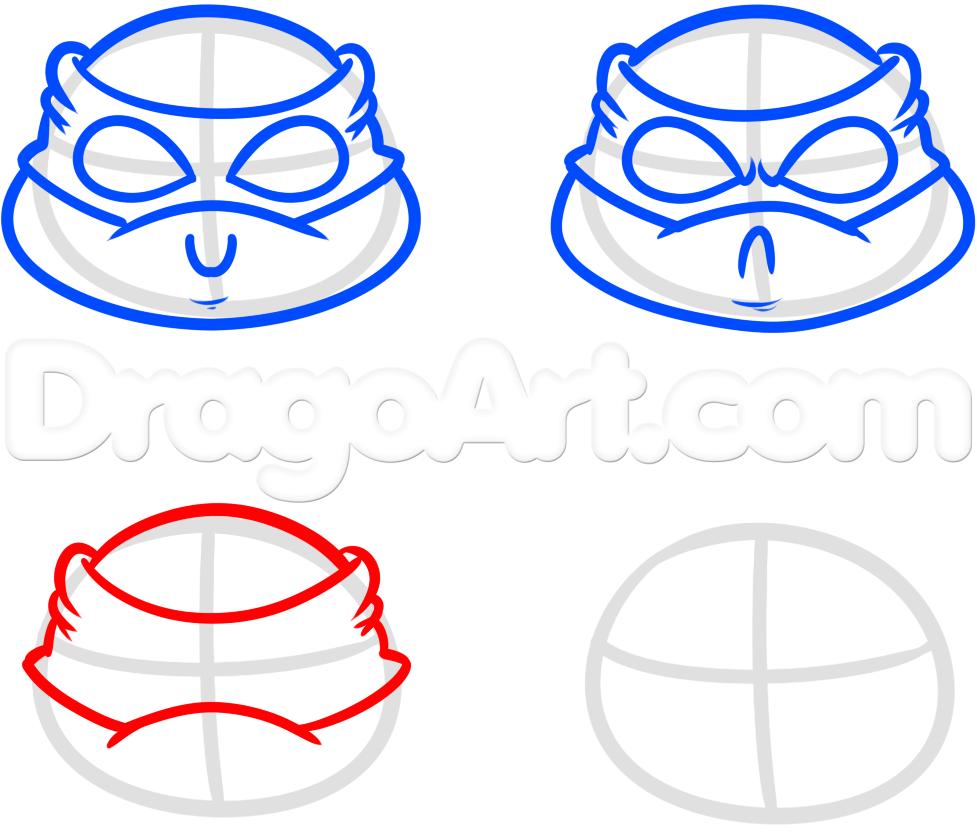 977x840 How To Draw Ninja Turtles Easy Step