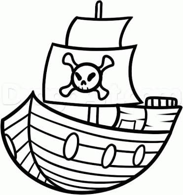 Easy Pirate Ship Drawing Free Download Best Easy Pirate Ship