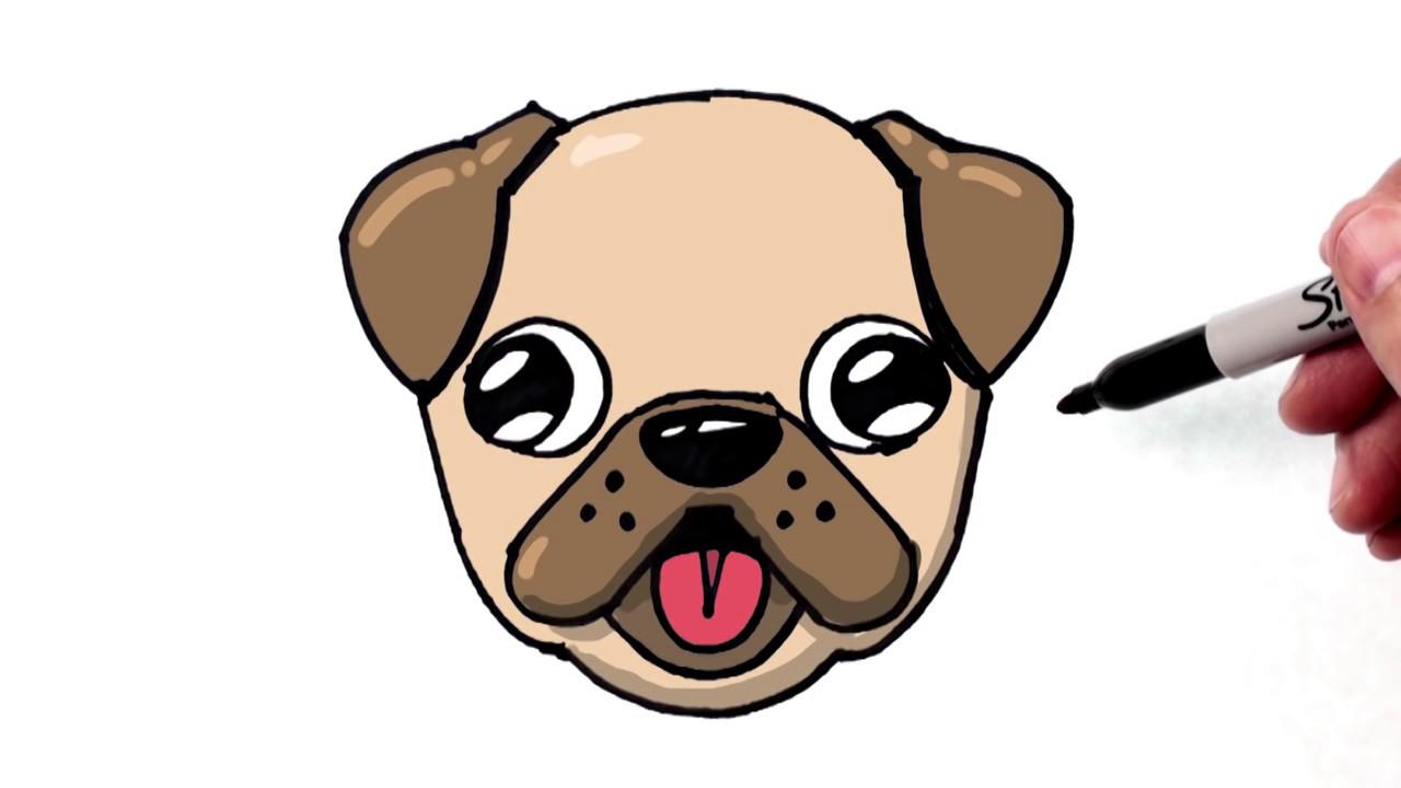 Draw Turn Word Pug Dog Step Book Marketing