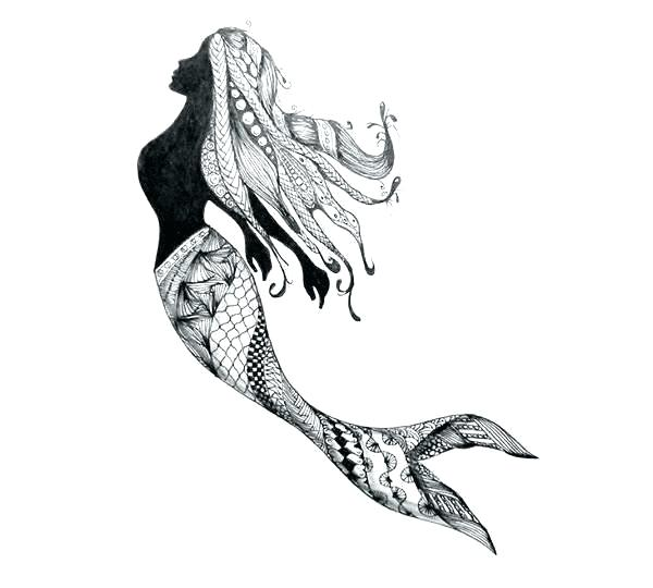 600x540 Mermaid Drawing Easy Mesmerizing Mermaid Drawings Marvelous Simple