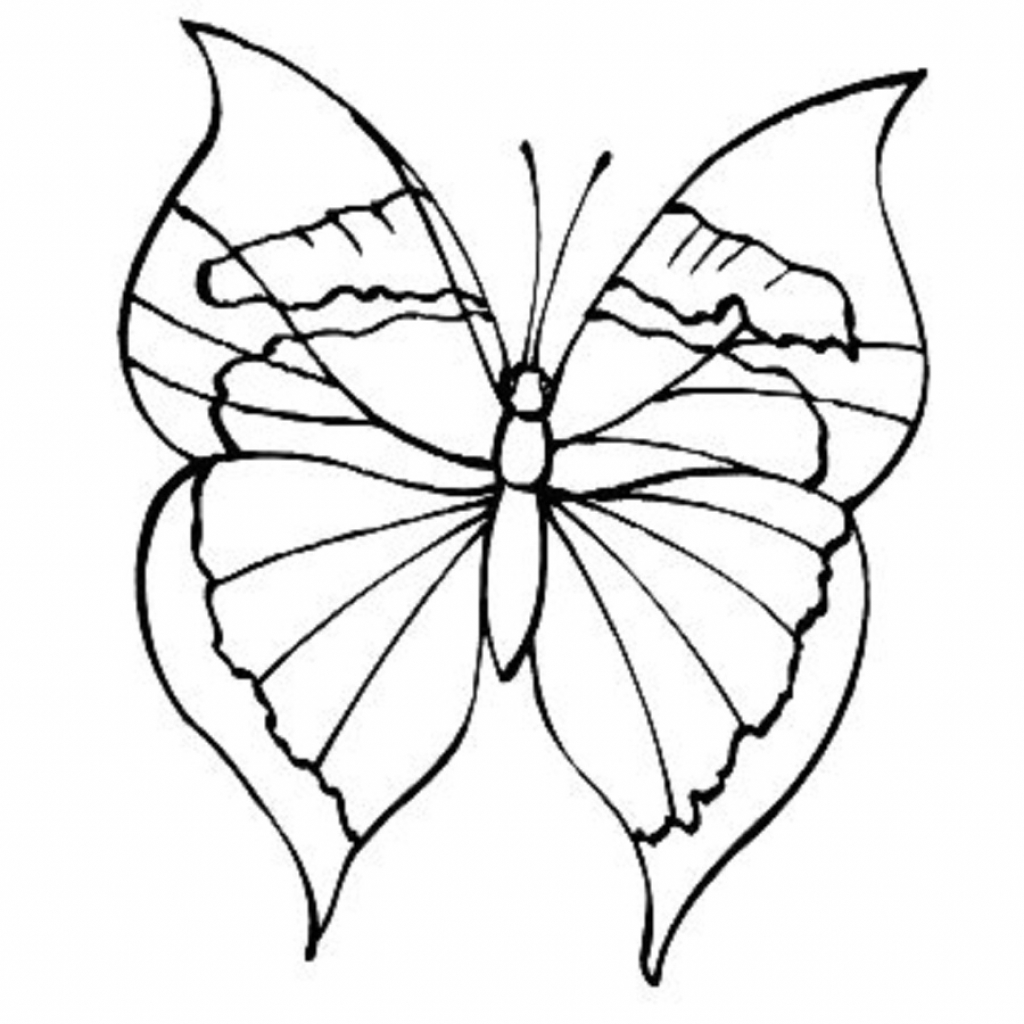 1024x1024 Simple Butterflies Drawings