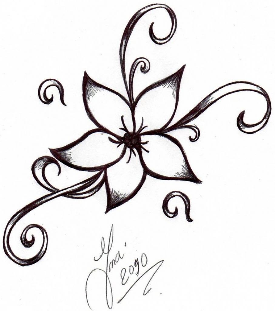 907x1024 Simple Drawing Pencil Flowers Image Simple Drawing Of Flowers