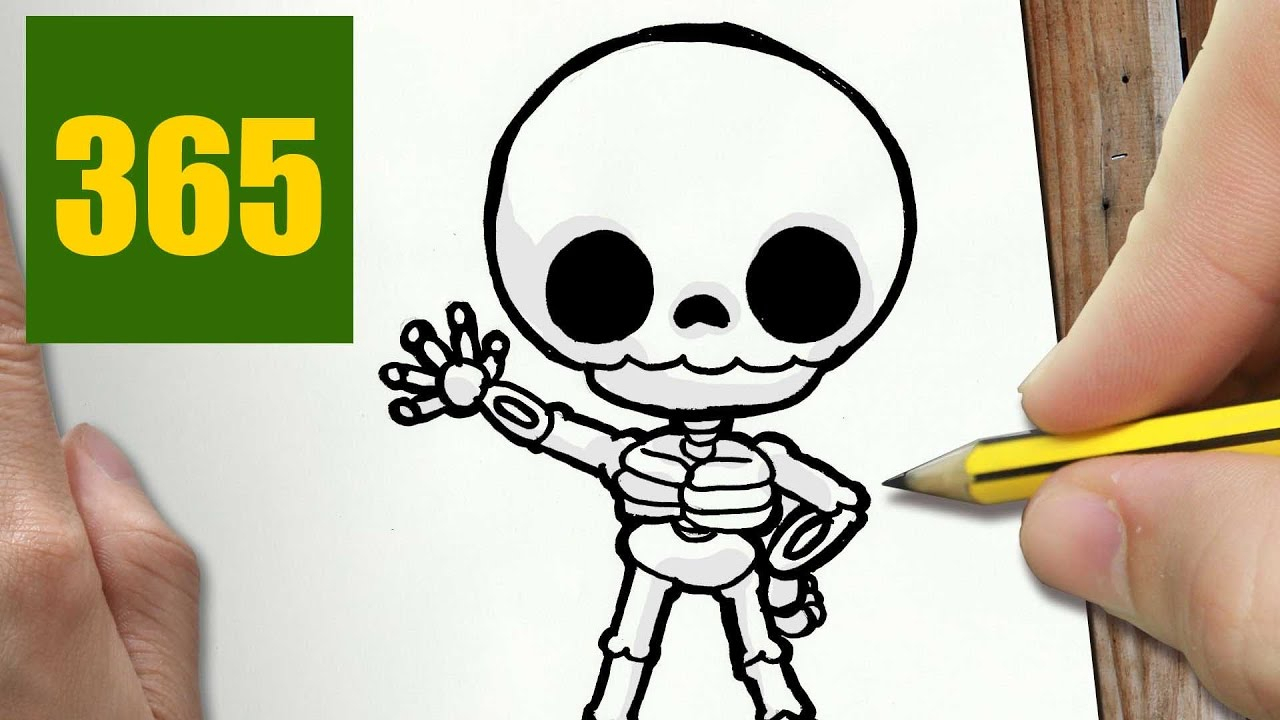 1280x720 Easy Skeleton Drawing How To Draw A Skeleton Cute, Easy Stepstep