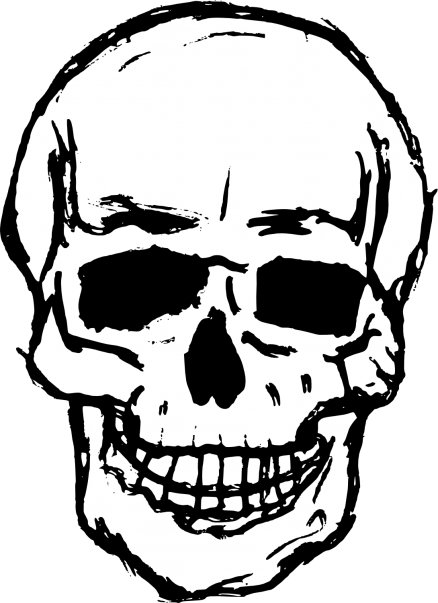 438x603 Halloween Skeleton Drawing Human Clip Art Painting Sketches Easy