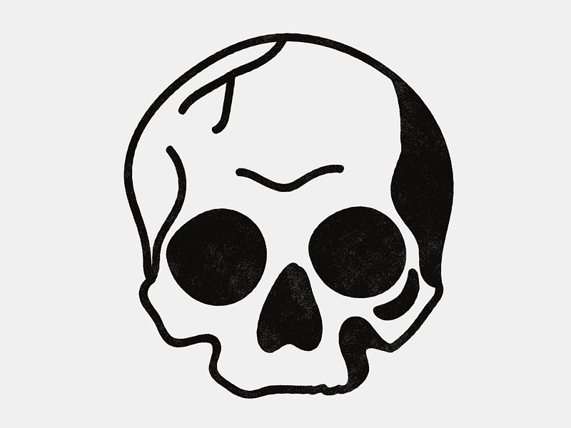 800x600 On Simple Skull Drawing