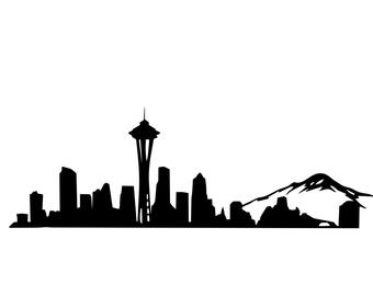 340x270 Seattle Skyline Etsy