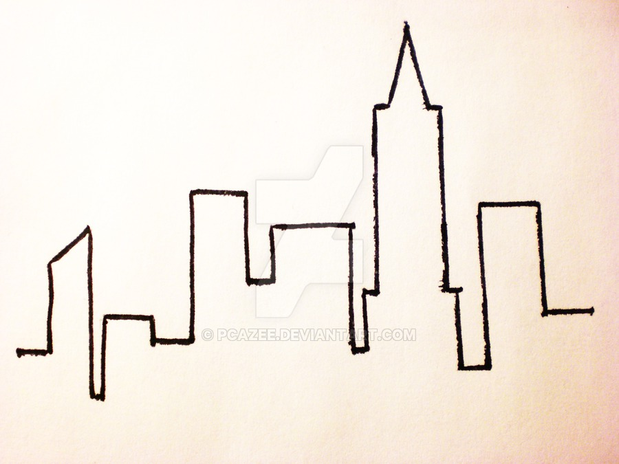 900x675 Simple Chicago Skyline Drawing