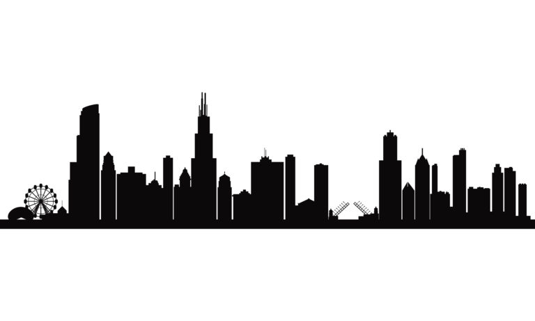 768x461 chicago drawing white skyline black chicago for free download