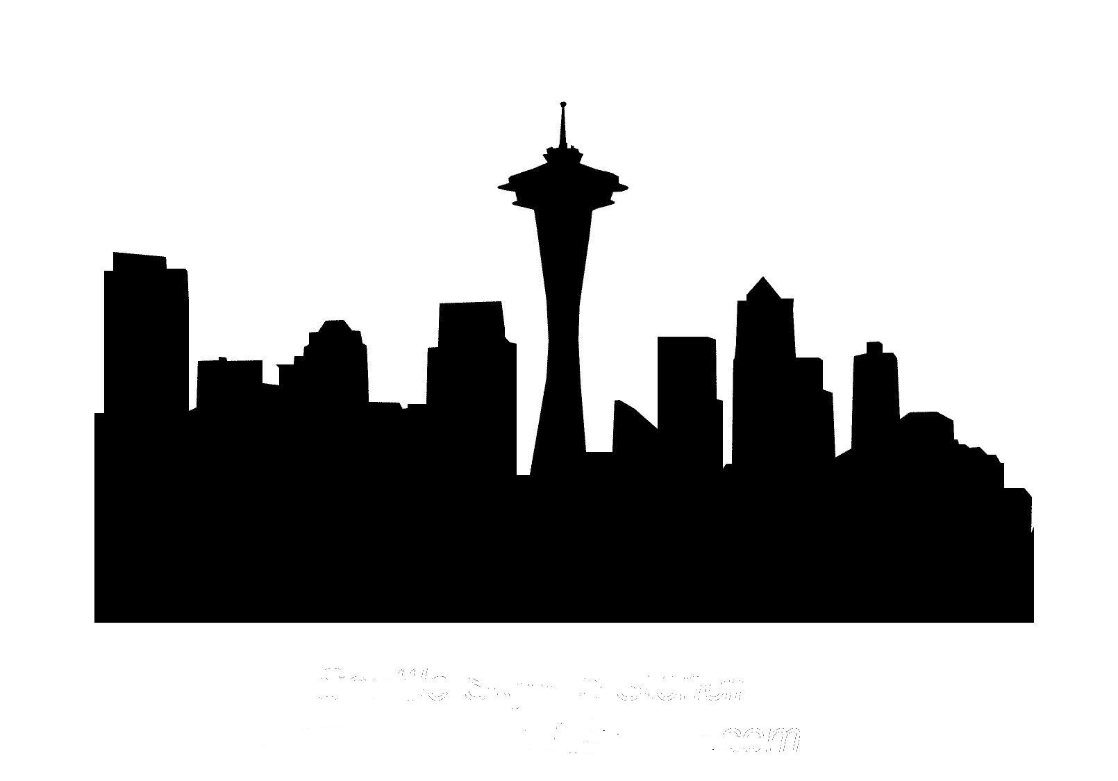 1610x1125 Seattle Drawing For Free Download