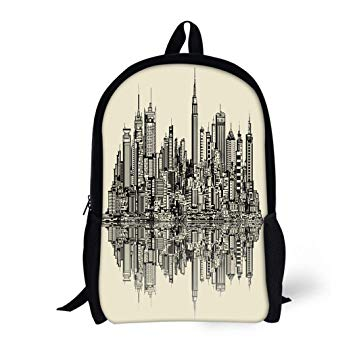 355x355 Pinbeam Backpack Travel Daypack City Of Sketch New