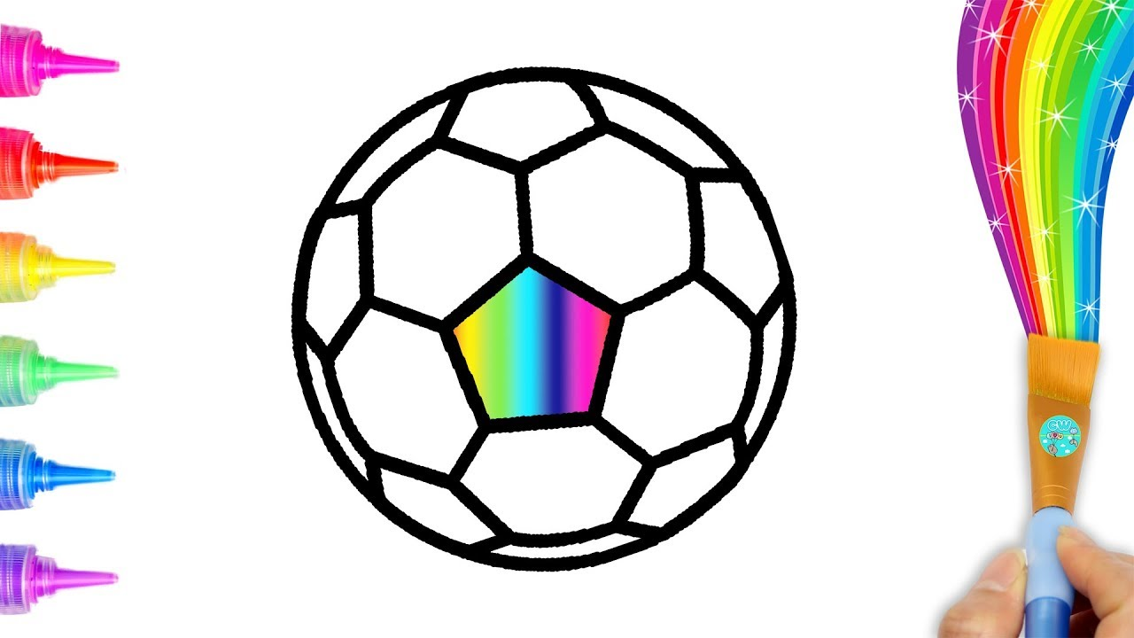 1280x720 Glitter Soccer Easy Drawing And Coloring For Toddlers, Kids