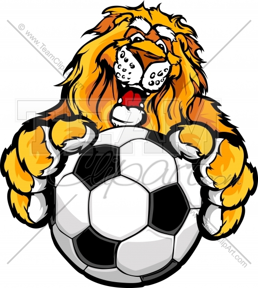528x590 Lion Soccer Clipart Image Easy To Edit Vector Format
