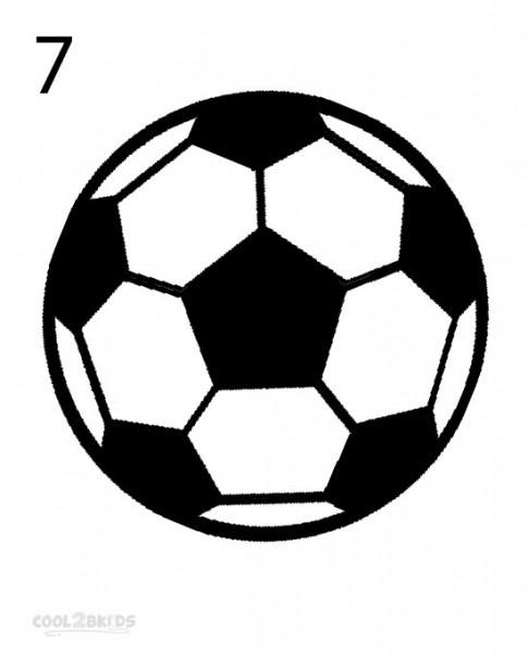 485x600 Soccer Ball Drawing Easy