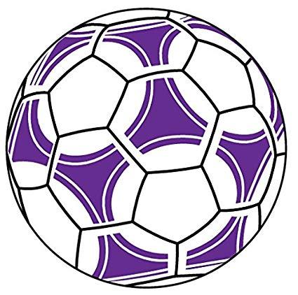 425x422 Soccer Ball Purple Sports Auto Car Bumper Window Wall