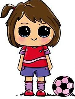 243x320 Soccer Girl The Girls Kawaii Girl Drawings, Kawaii Drawings