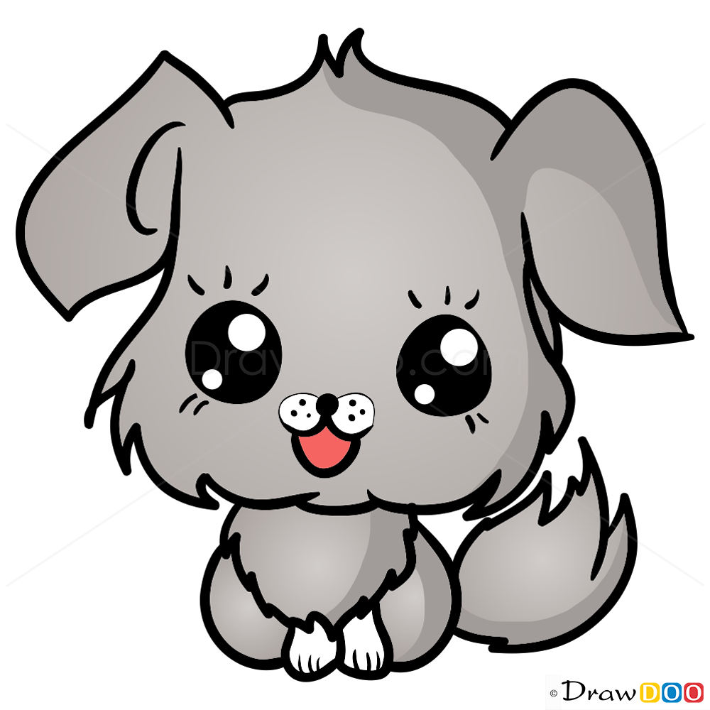 1000x1000 How To Draw Dog, Chibi