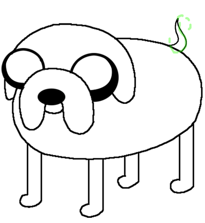400x436 How To Draw Jake The Dog From Adventure Time On Cartoon Network