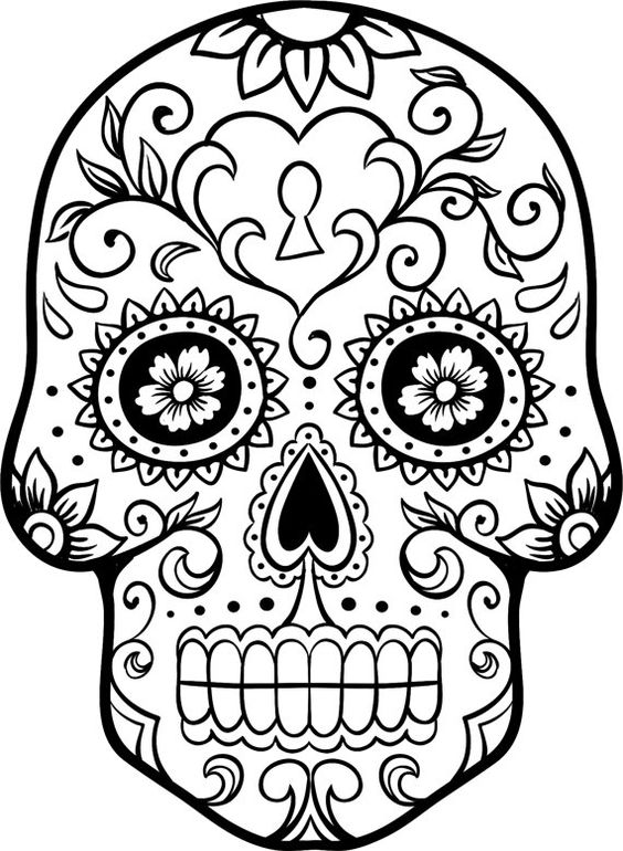 Easy Sugar Skull Drawing Free Download Best Easy Sugar