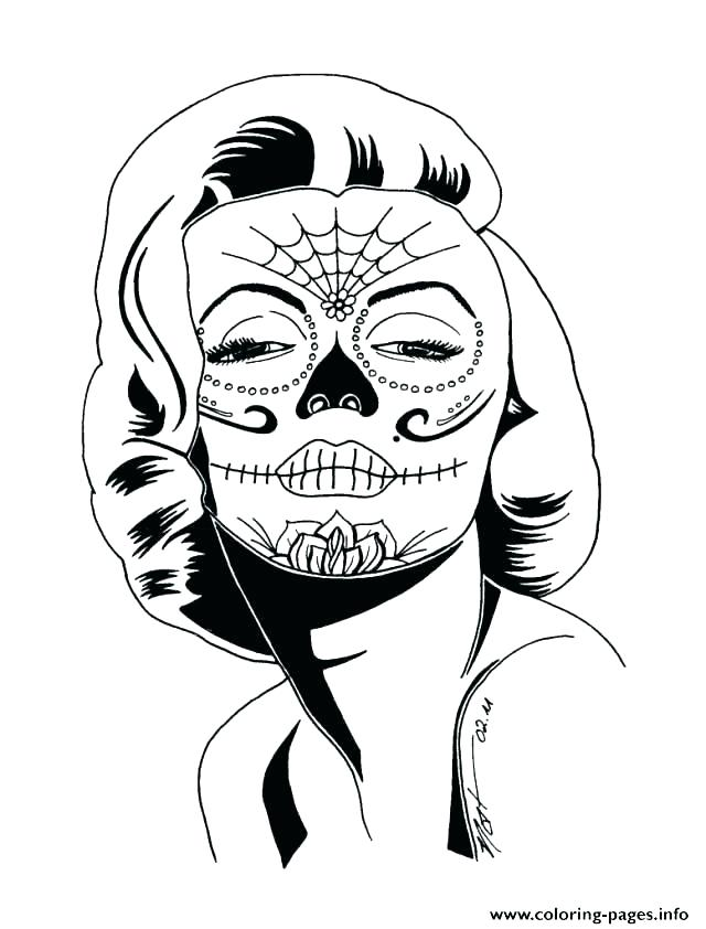 640x842 Simple Sugar Skull Coloring Pages Fresh Girly Download