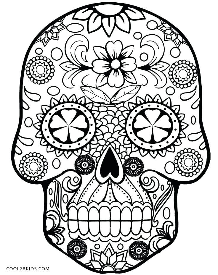 736x930 How To Draw A Simple Sugar Skull Nip