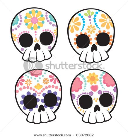 437x470 Cute,easy To Draw Sugar Skulls Love It! Day Of The Dead